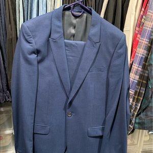 Topman Ultra Skinny Blue Suit